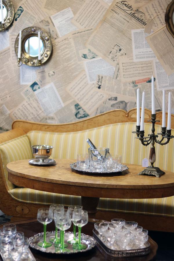 Claes interiör, kristallkronor och kuriosa
